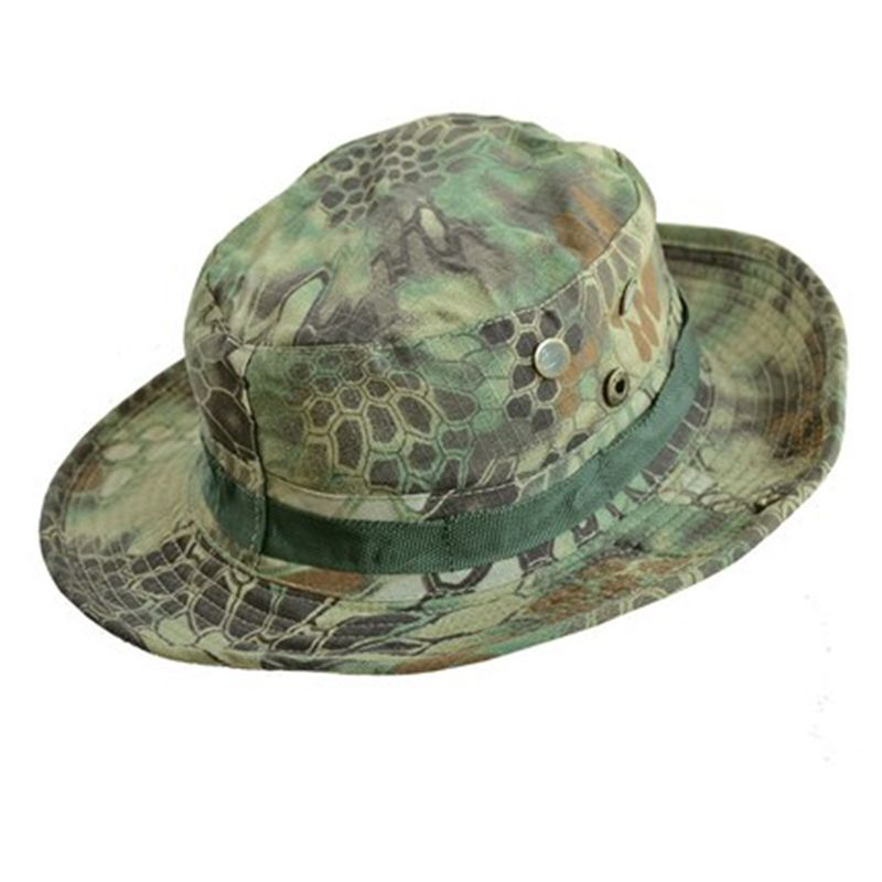 Summer Men s Military Bucket Hats Panama Jungle Camouflage Hat Wide Brim  Clim Sun Fishing Bucket Hat 66ed77cfd69d
