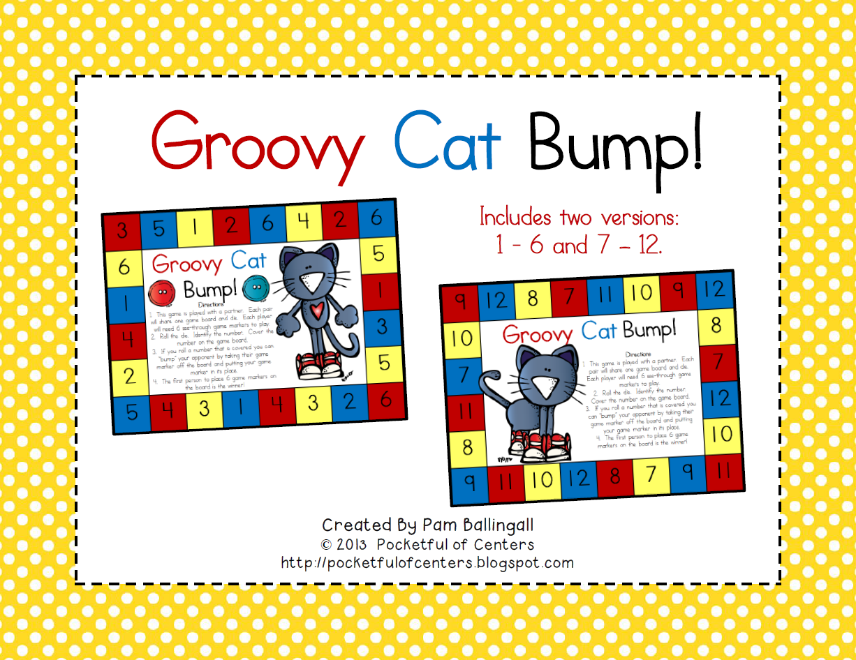Groovy Cat Number Recognition Game 1 50