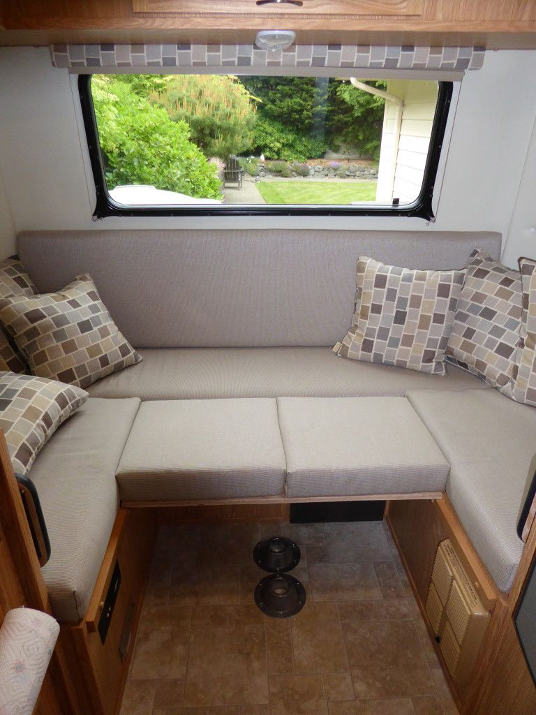 5 Reasons To Downsize Your Rv Dinette Table Rv Sofas Dinette Tables Camper Table