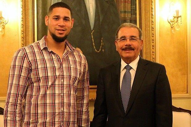 Danilo Medina recibió la visita de Gary Sánchez