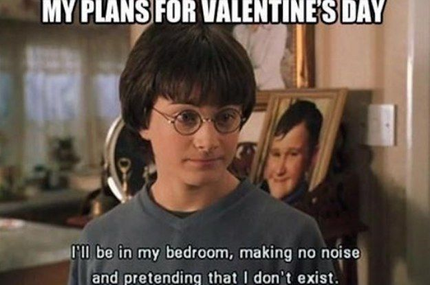 33 Times Tumblr Perfectly Summed Up Being Single On Valentine S Day Harry Potter Quotes Really Funny Memes Harry Potter Funny