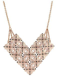 Jessica Simpson Baroque Bohemia Rose Gold Necklace belk gifts