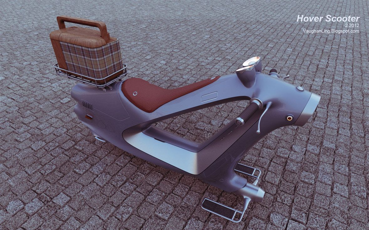 Hover Scooter concept | Designer: Vaughan Ling - http://vaughanling.blogspot.com/