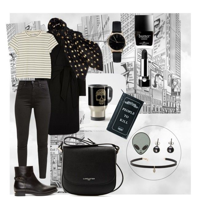 """Strange City 🌃"" by niavmealone on Polyvore featuring River Island, Levi's, Burberry, Monki, Freedom To Exist, Carbon & Hyde, Black, Lancaster, Killstar and Butter London"