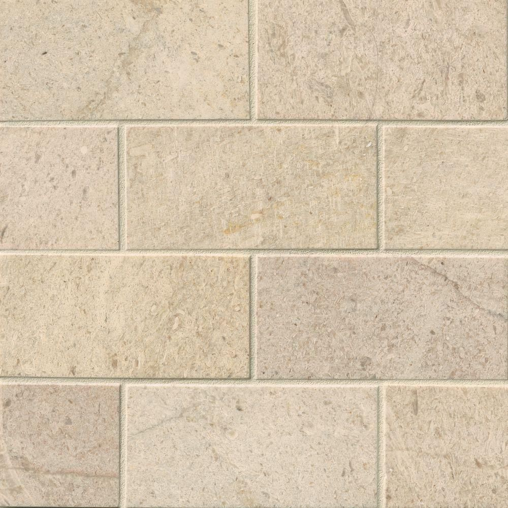 Msi Coastal Sand 3 In X 6 In Honed Limestone Floor And Wall Tile 1 Sq Ft Case Ccoasan36h The Home Depot Trendy Bathroom Tiles Limestone Flooring Subway Tile
