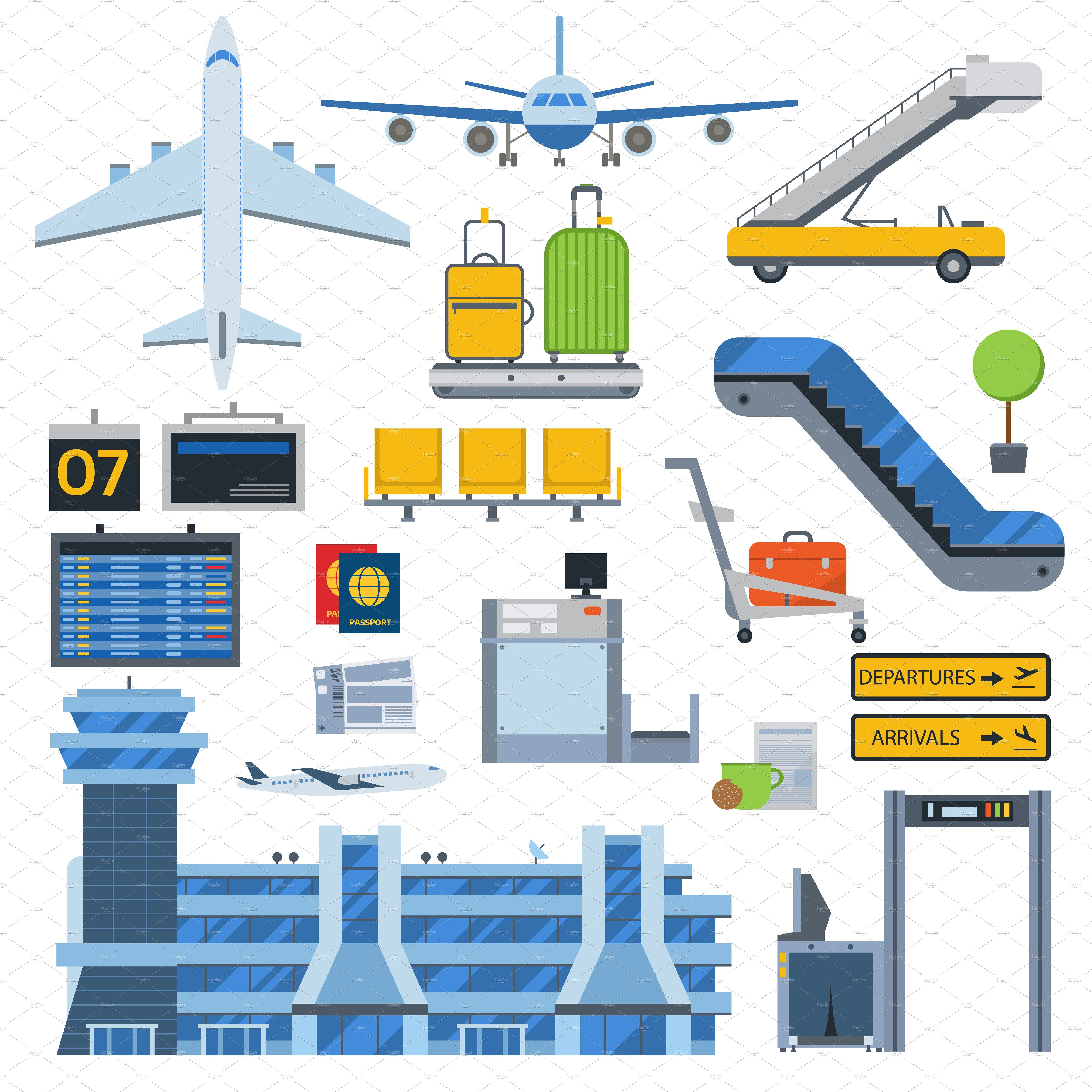Vector airport symbols Airport design, Airport, Vector