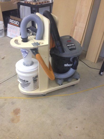 Shop vac and cyclone separator cart | Workshop Tips in 2019