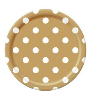 Gold Polka Dot Lunch Plates are printed with white dots against a gold background. Large gold polka dot plates add a bright touch to your party table!  sc 1 st  Pinterest & Pin by Shannon Bond on Kassie\u0027s Sweet 16 | Pinterest | Sweet 16