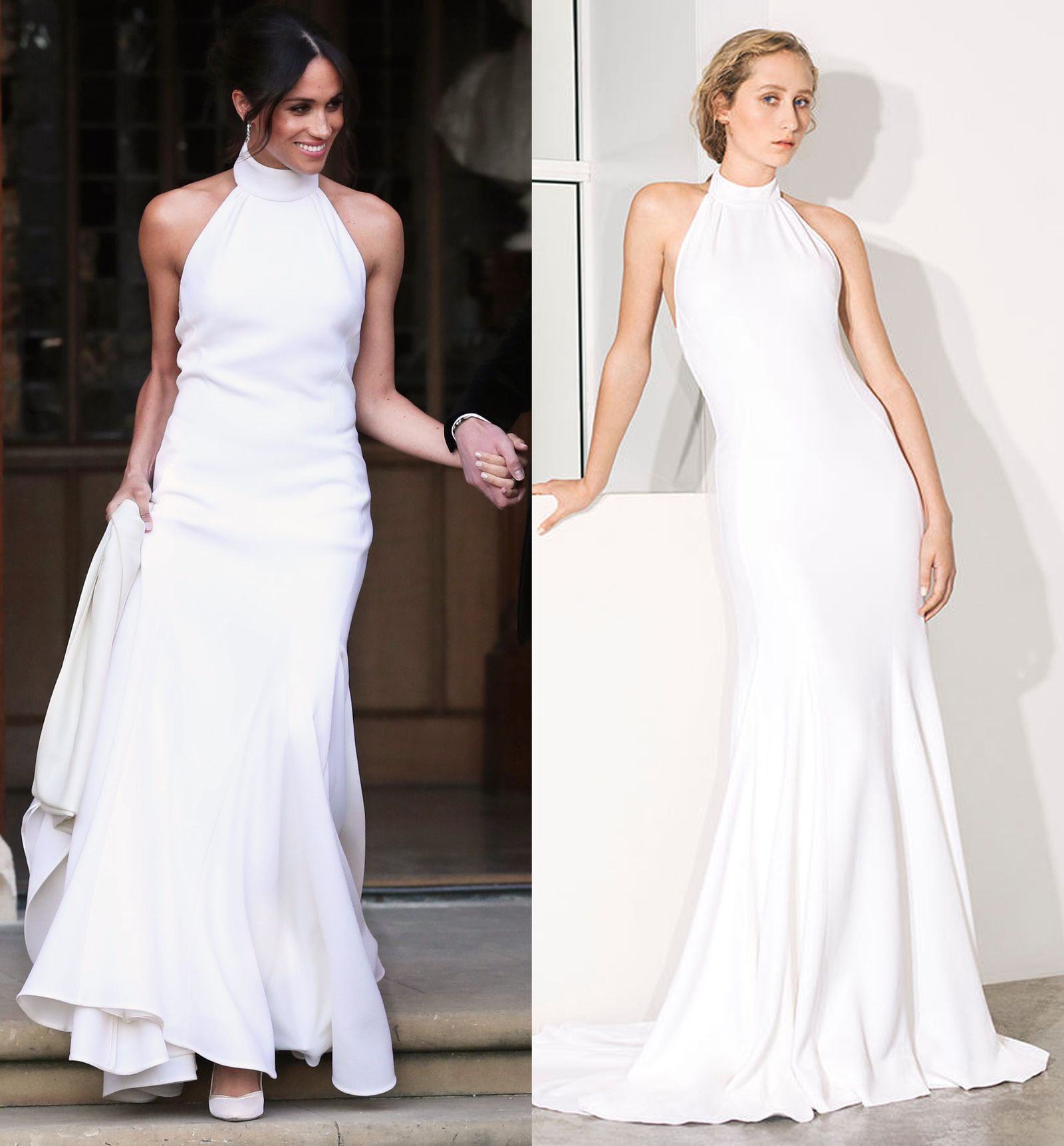 Stella Mccartney S New Bridal Collection Includes Meghan Markle S Wedding Dress Meghan Markle Wedding Dress After Wedding Dress Wedding Dresses [ 1724 x 1600 Pixel ]