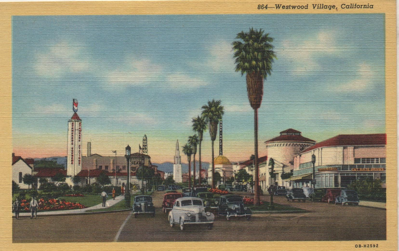 1930\'s Westwood L.A. postcard. Hagins collection. | Los Angeles ...