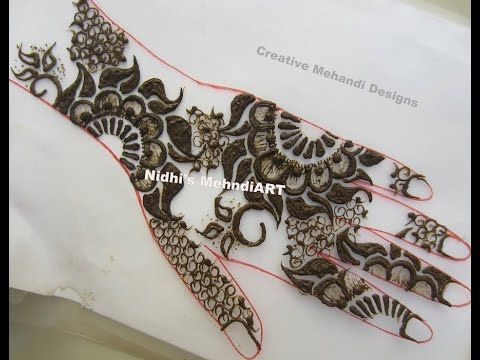 Mehndi For Shrimant : Youtube thick gulf style floral henna mehndi design unique