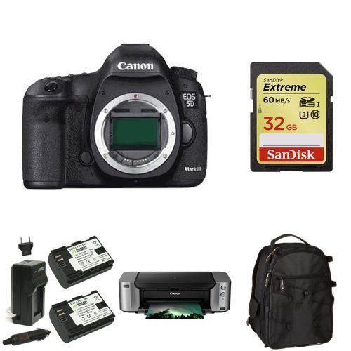 Canon EOS 5D Mark III Full Frame Digital SLR Camera (Body) + PIMXA ...