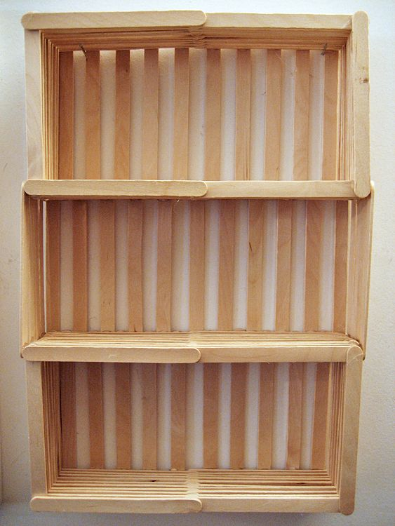 Make a hanging shelf out of popsicle sticks crafts i 39 d What to make out of popsicle sticks