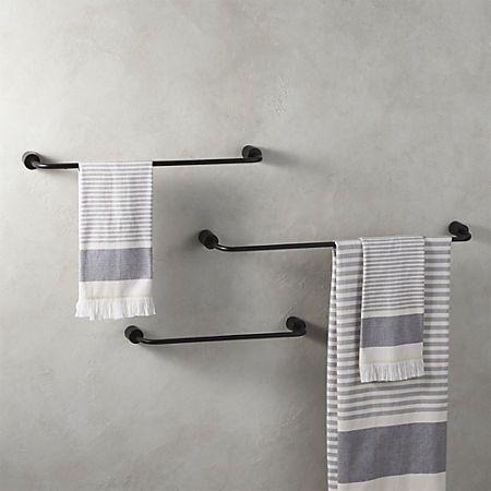 Rough Cast Black Towel Bars in 2018 Bathroom Pinterest