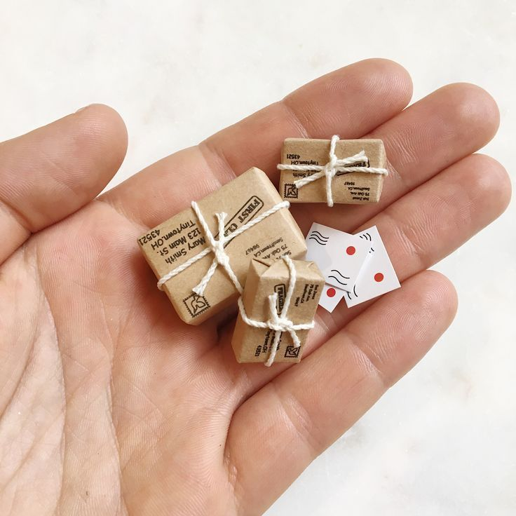 Photo of Miniature parcels #miniaturedolls Miniature parcels