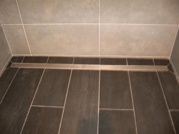 Long Tile Shower With Linear Drain   Ceramic Tile Advice Forums   John  Bridge Ceramic Tile