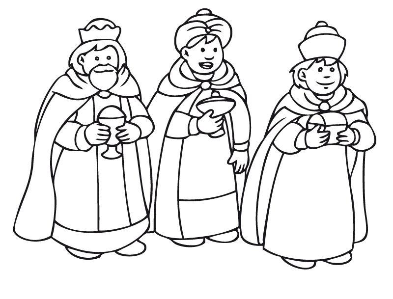Dibujo De Rosca De Reyes Para Colorear: Reyes Magos De Oriente