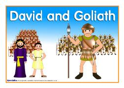 David and Goliath visual aids