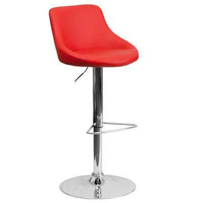Flash Furniture Contemporary Adjustable Height Swivel Bar Stool Upholstery: