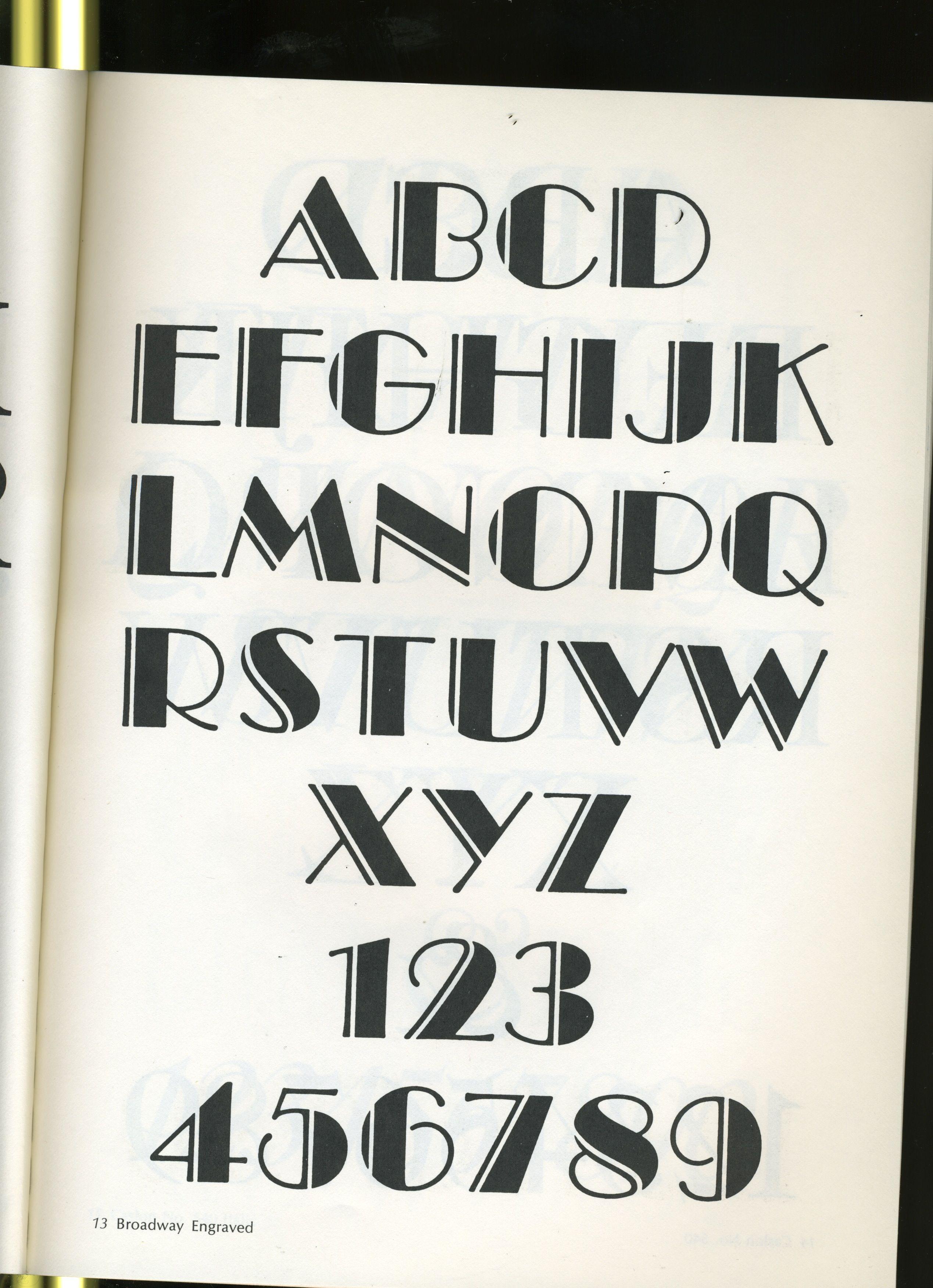 Lettering Letter Alphabet Different Font