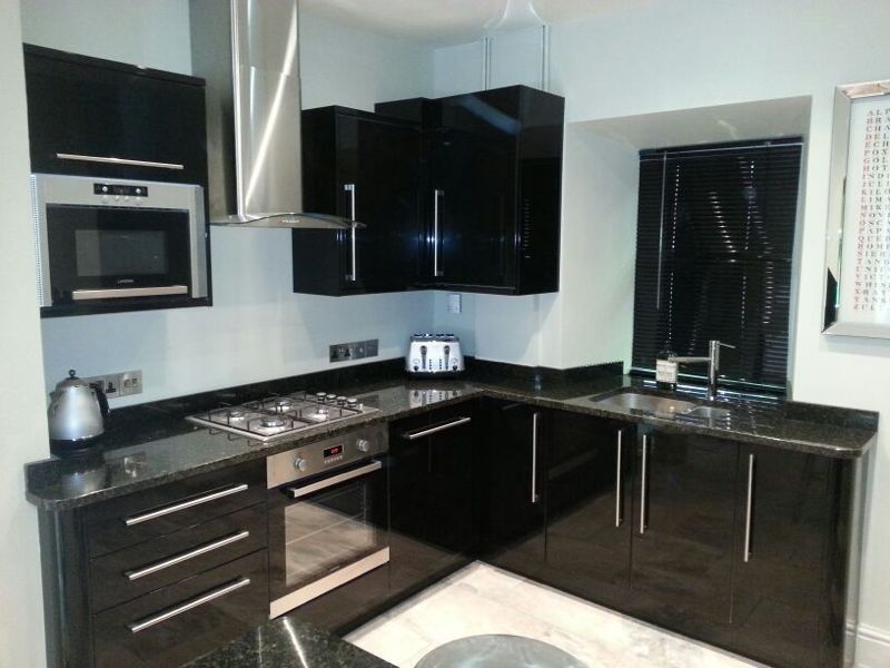 Black Gloss Kitchen  Kitchen  Pinterest  Gloss Kitchen New Kitchen Design Sheffield Review