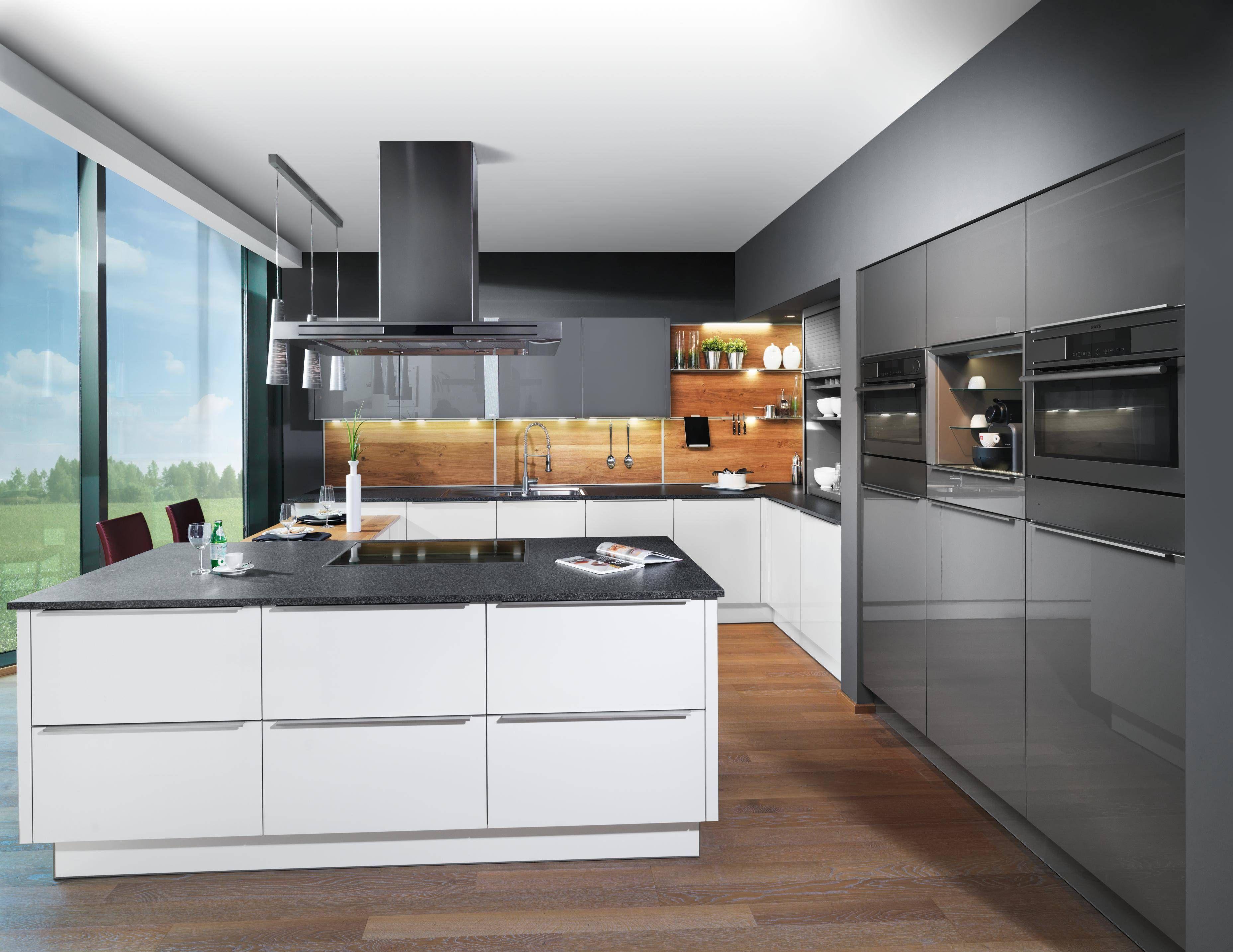 Ewe Küche hochglanz, Moderne küche, Küche holzboden