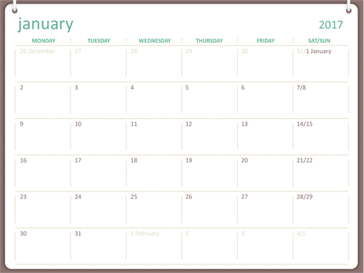 Monthly Calendar You Can Edit : This plain wall calendar on a white background uses