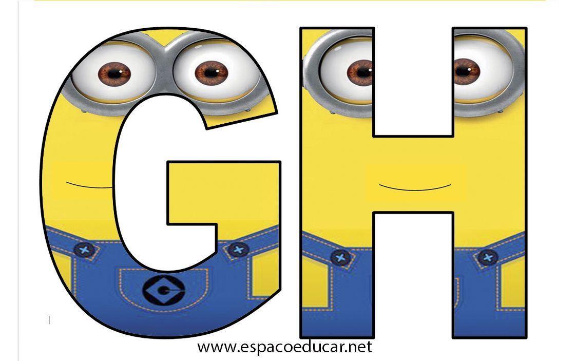 letras abc alfabeto minions gr c3 a1tis imprimir anivers c3 a1rio