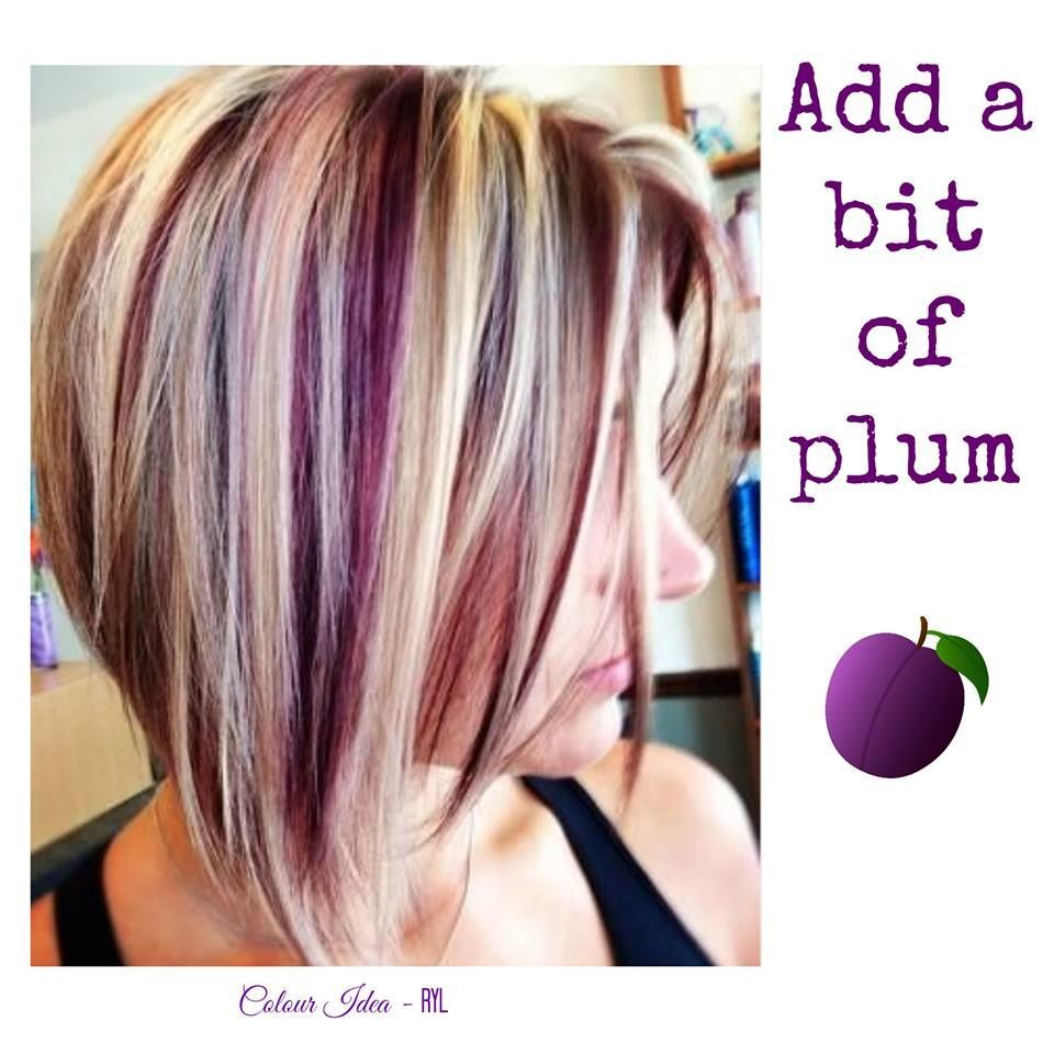 Blonde and plum hair colour inspiration rock your locks short