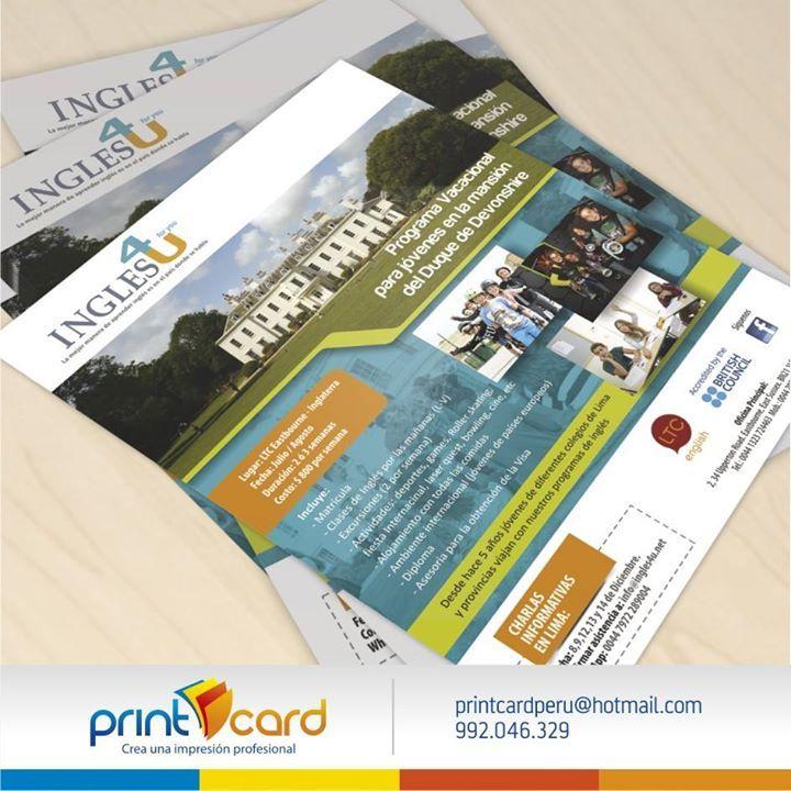 Diseño e impresión de flyer. Cliente: INGLES4YOU