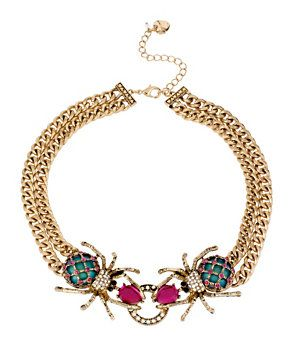 Betsey Johnson Spiders & Chains Frontal Statement Necklace | Dillard's Mobile
