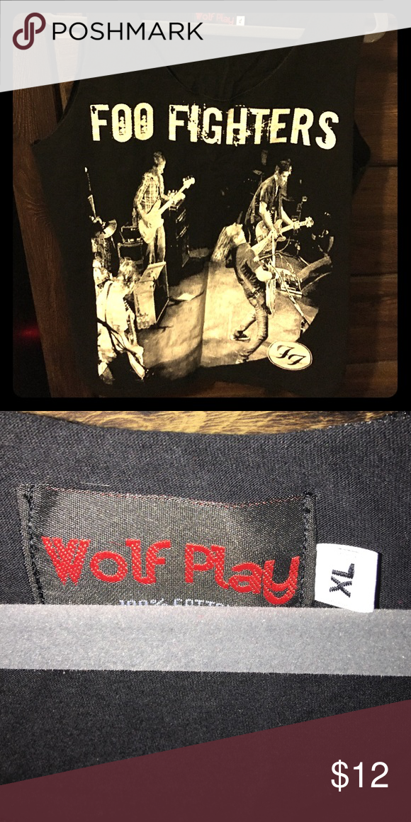 Wolf Play: Foo Fighters Tank Unisex Brand new foo fighters vintage tee never worn - unisex size xl- fits like a large Wolf Play Tops Tank Tops