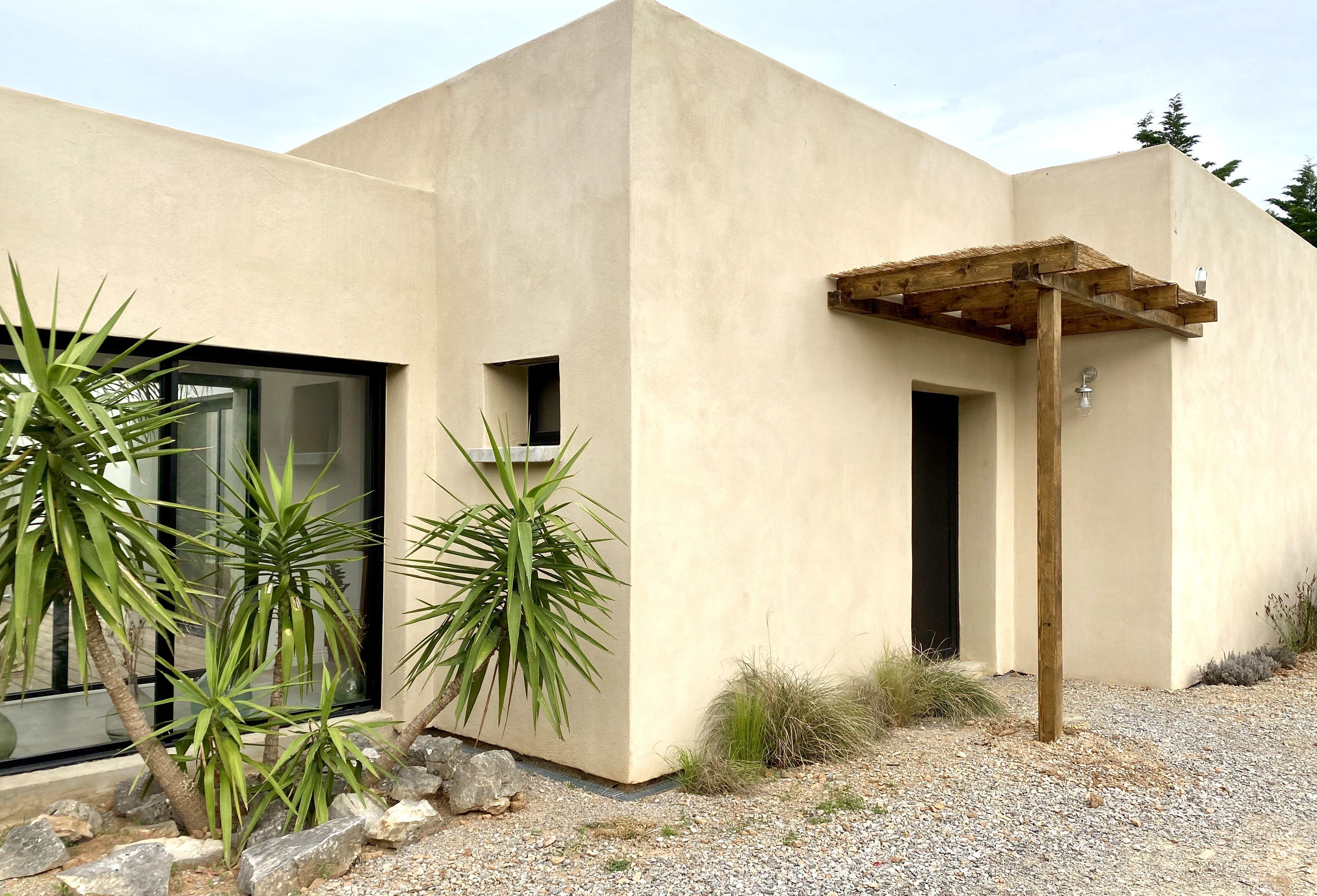 Maison toit plat beige bois en 10  Maison toit plat, Toit plat