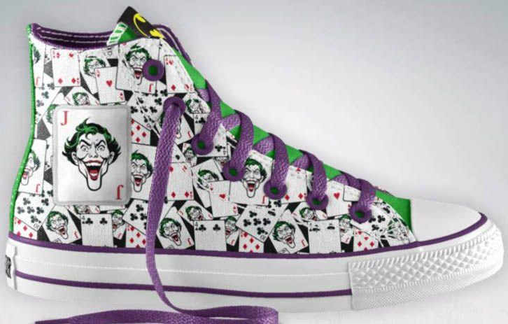 """Design Your Own DC Comics x Converse Sneakers """"Joker"""" """"Batman"""" """"riddler"""""""