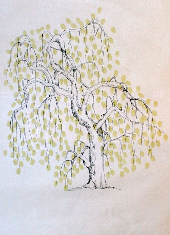 amazing willow tree fingerprint guest book for a farm wedding
