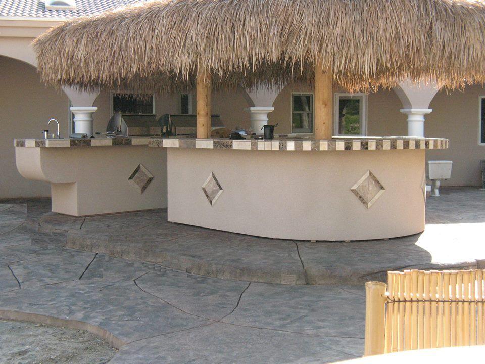 tropical palapa BBQ island bar! yes Please! | Bbq island ... on Palapa Bar Backyard id=60593