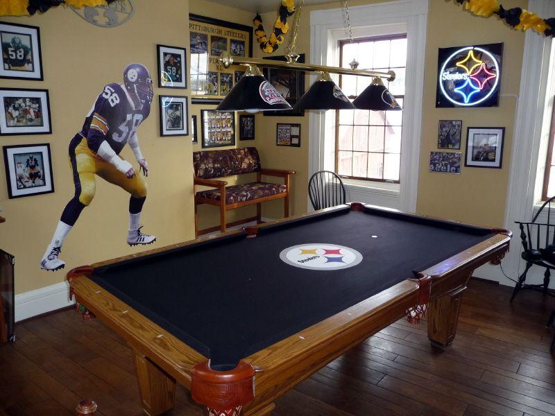 My Steelers Room Pool Rooms Steelers Billiard Room