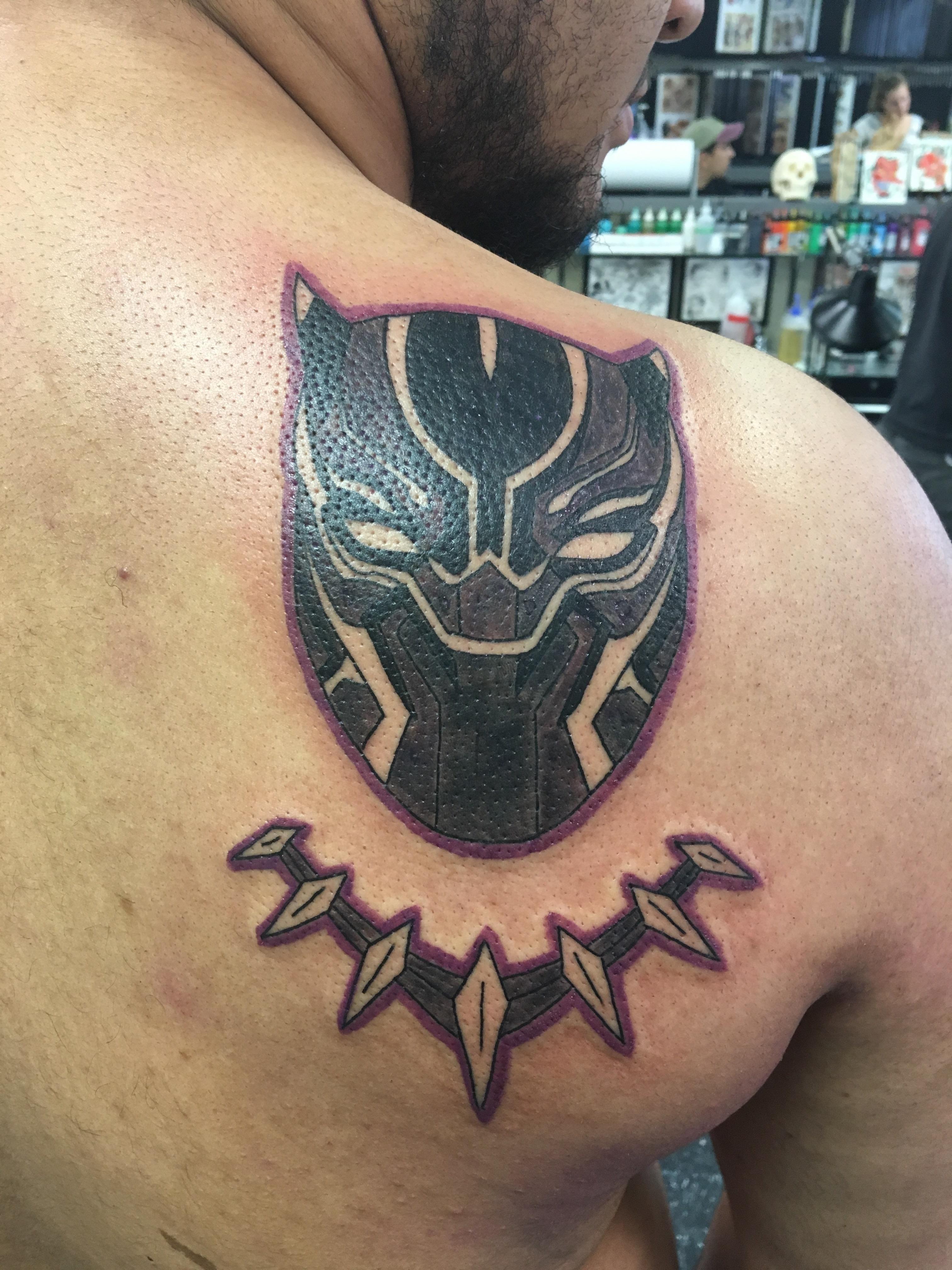 Black Panther Tattoo Marvel Tattoos Black Panther Tattoo