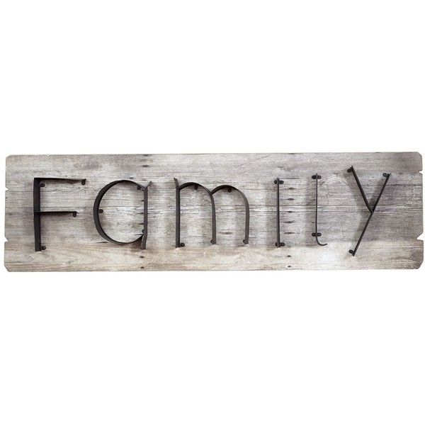 Pier 1 Imports Family Wall Plaque Brown ($80) ❤ Liked On Polyvore Featuring  Home