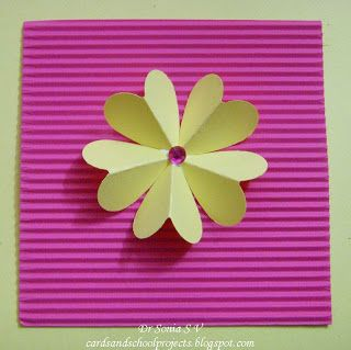Quick And Easy Heart Punch Flower Tutorial Easy Paper Flowers