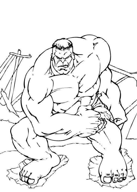 Hulk Superhero Coloring Page Marvel Dibujos Dibujos Para