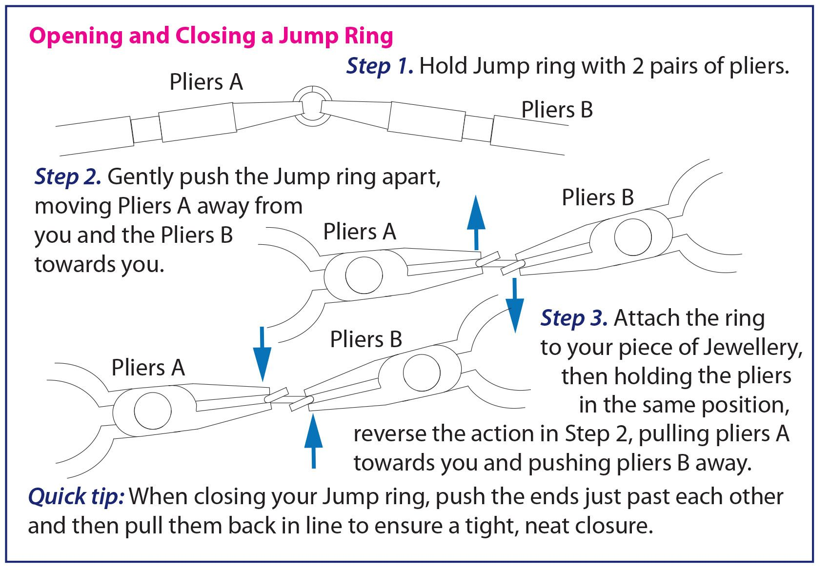 Opening A Jump Ring Instructions Hints And Tips Pinterest