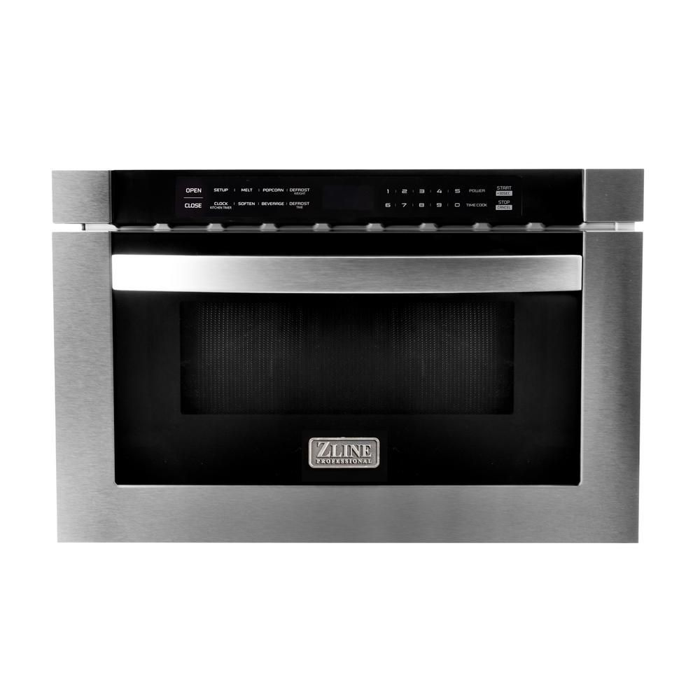 Zline Kitchen And Bath 24 In 1 2 Cu Ft Microwave Drawer In Stainless Steel Silver Microwave Drawer Kitchen Bath Stainless Microwave