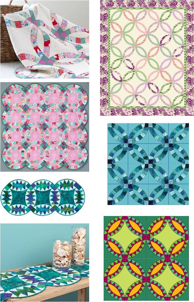Wedding Ring Quilt Inspiration And Free Patterns