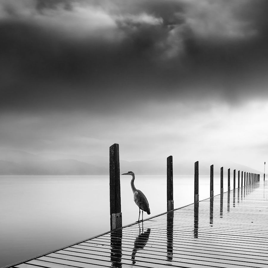 Minimalist photographer captures dramatic depth of nature in black george digalakis surreal nature photography black and white minimalism landscape voltagebd Images
