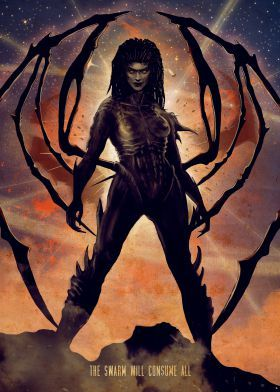 Prints On Steel Characters Queen Of Blades Sarah Kerrigan