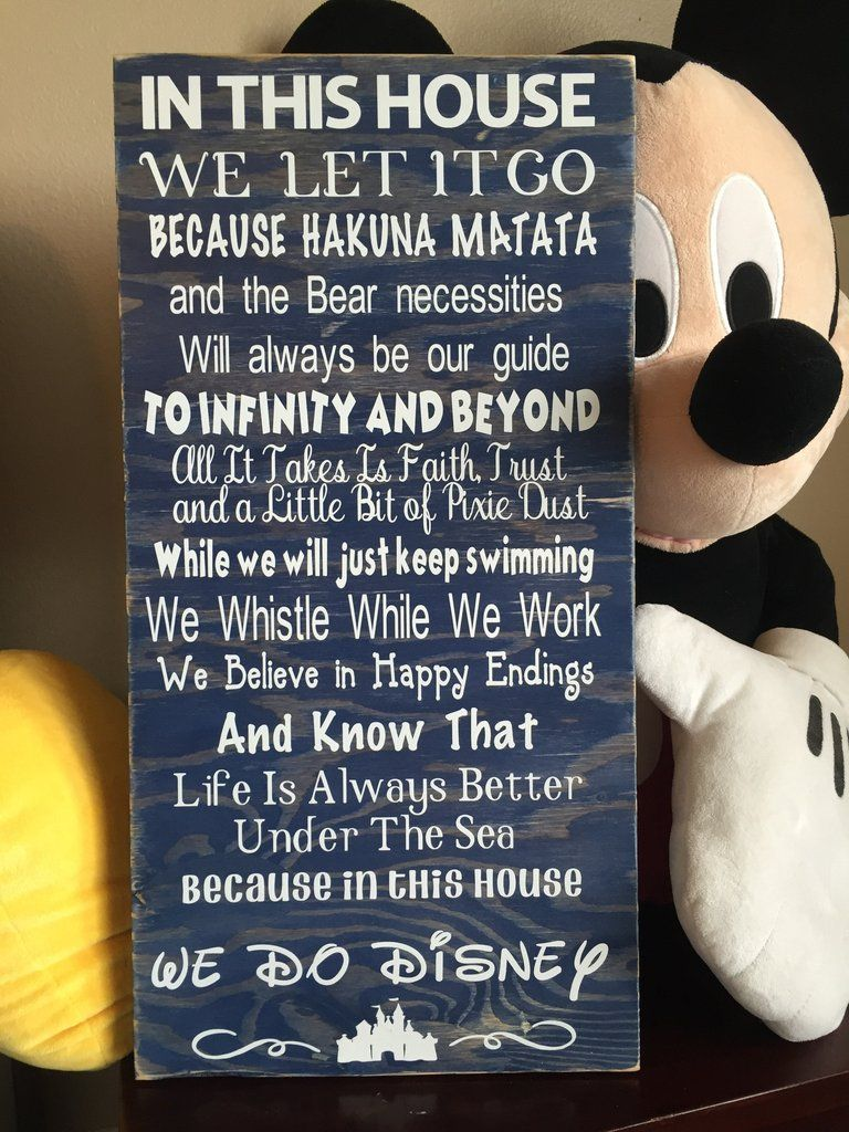 Disney Quotes Wood Sign *FREE SHIPPING* – ABreezyCreation