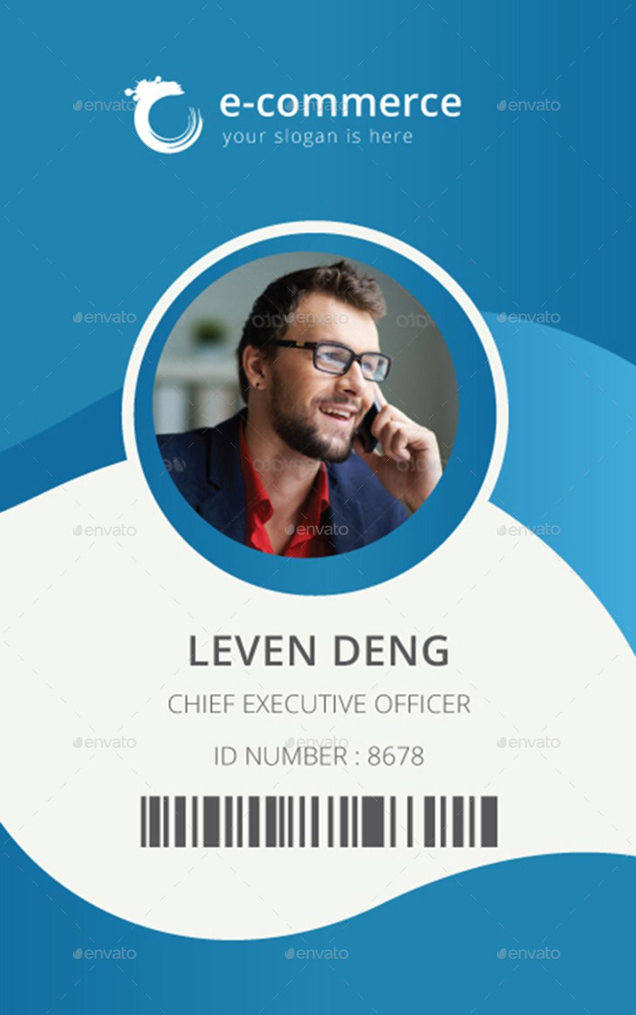 hight resolution of e commerce business office id card