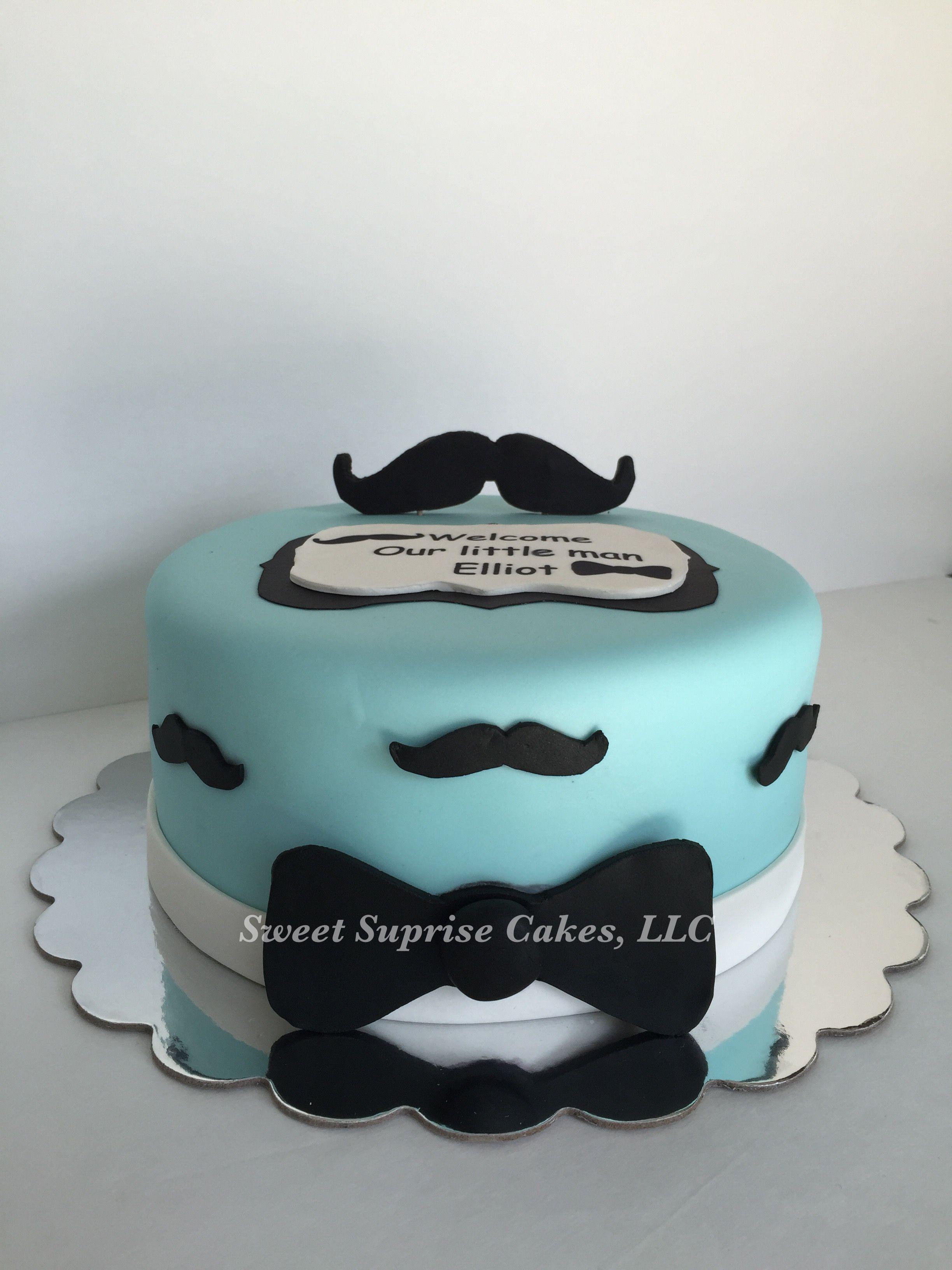 Mustache Cake Baby Boy Shower Cake Babyshower Mustache