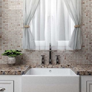 Shop for SomerTile 12x12-in Cuivre 1-in Bronze White Translucent Glass Mosaic Tile (Case of 13). Get free delivery at Overstock.com - Your Online Home Improvement Shop! Get 5�0in rewards with Club O!